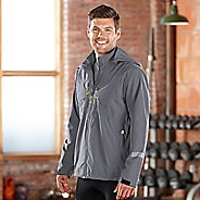 Mens Road Runner Sports Thunderstruck Rain Outerwear Jackets - Steel S