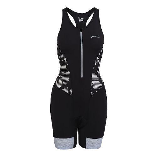 Womens Zoot Ultra Tri Racesuit Triathlete UniSuits - Black Island XS