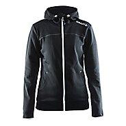 Womens Craft Leisure Full Zip Hoodie & Sweatshirts Technical Tops - Black XS