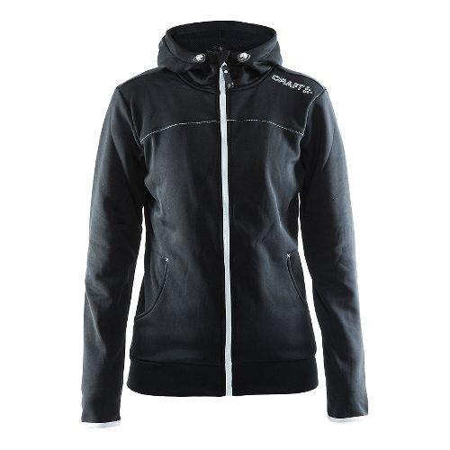 Womens Craft Leisure Full Zip Hood Warm Up Hooded Jackets - Black 3X