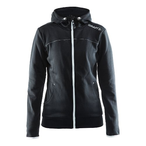 Womens Craft Leisure Full Zip Hoodie & Sweatshirts Technical Tops - Black S