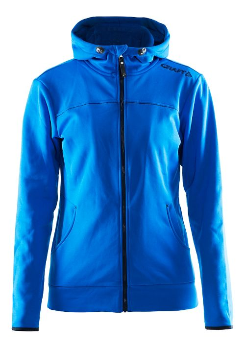 Womens Craft Leisure Full Zip Hoodie & Sweatshirts Technical Tops - Sweden Blue L