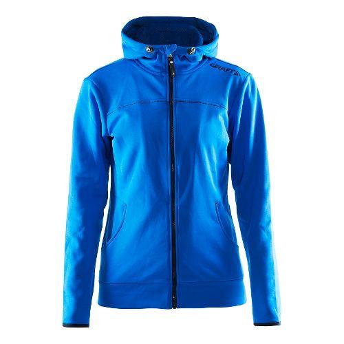 Womens Craft Leisure Full Zip Hood Warm Up Hooded Jackets - Sweden Blue XL