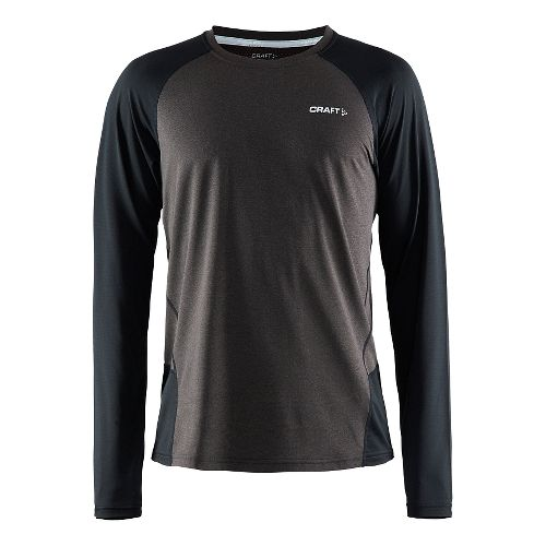 Mens Craft Precise Long Sleeve No Zip Technical Tops - Black XXL