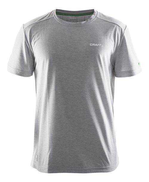 Mens Craft In-the-Zone T-Shirt Short Sleeve Technical Tops - Grey S