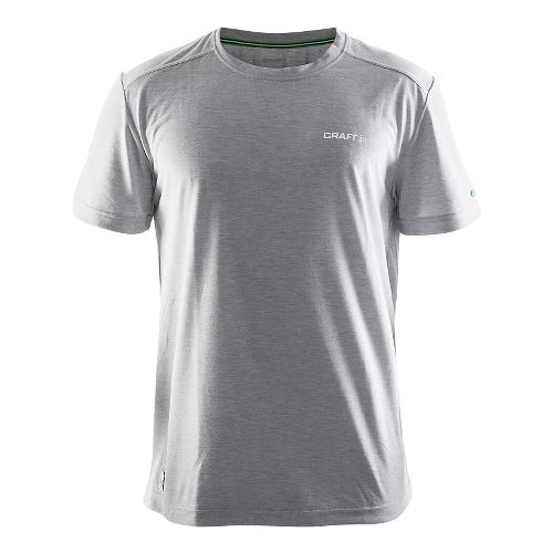 Mens Craft In-the-Zone T-Shirt Short Sleeve Technical Tops - Grey L