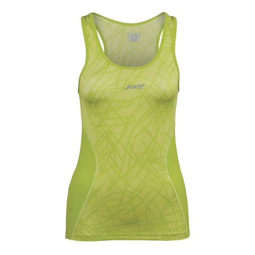 Womens Zoot Performance Tri BYOB Tank Technical Tops - Honey Dew Static XS