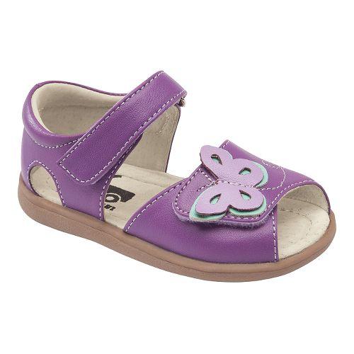 Kids See Kai Run Maryssa Sandals Shoe - Purple 6