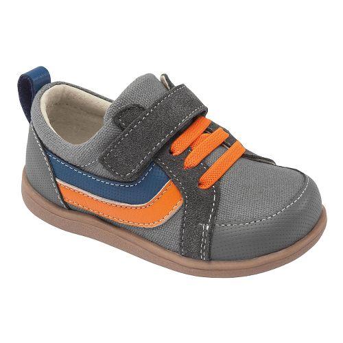 Kids See Kai Run Finnley Casual Shoe - Grey 8