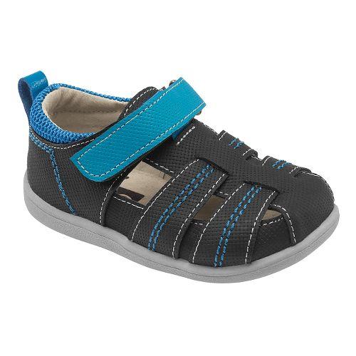 Kids See Kai Run Ryan II Sandals Shoe - Black 6