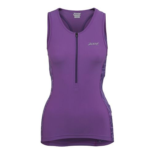 Womens Zoot Performance Tri Tank Sleeveless Technical Tops - Purple Haze Static XS