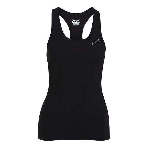 Womens Zoot Performance Tri Racerback Bra Tank Technical Tops - Black XS