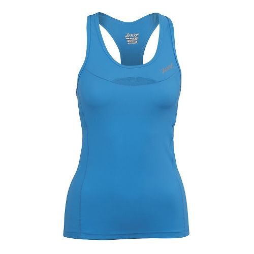 Womens Zoot Performance Tri Racerback Bra Tank Technical Tops - Maliblue L