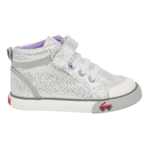 Kids See Kai Run Peyton Casual Shoe - Silver Glitter 13.5C