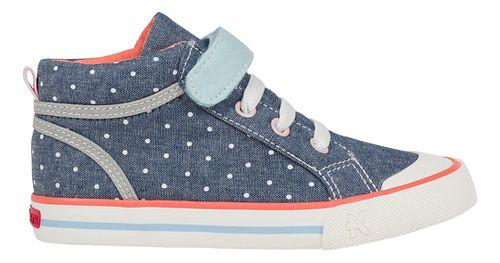 See Kai Run Peyton Casual Shoe - Blue/Dots 12C