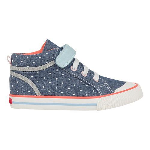 See Kai Run Peyton Casual Shoe - Blue/Dots 11.5C