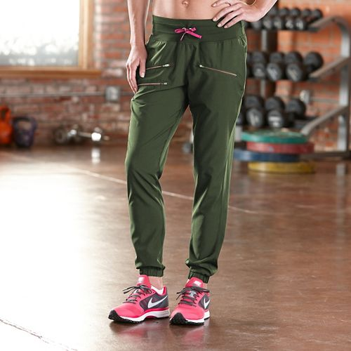 Womens Road Runner Sports Modern Day Jogger Full Length Pants - Olive Night S