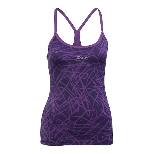 Womens Zoot Performance Tri Cami Bra Tank Technical Tops - Purple Haze Static M