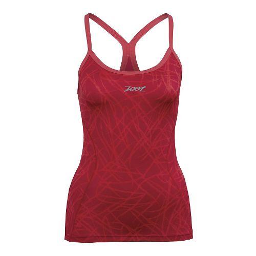 Womens Zoot Performance Tri Cami Bra Tank Technical Tops - Pink Grapefruit XL