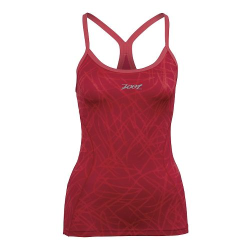 Womens Zoot Performance Tri Cami Bra Tank Technical Tops - Pink Grapefruit XS