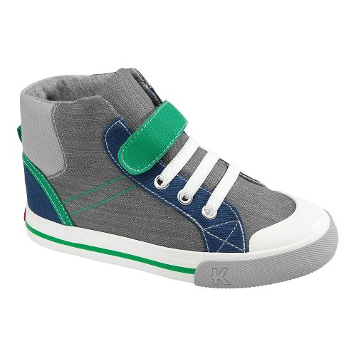 Kids See Kai Run Andy Casual Shoe - Grey 13.5