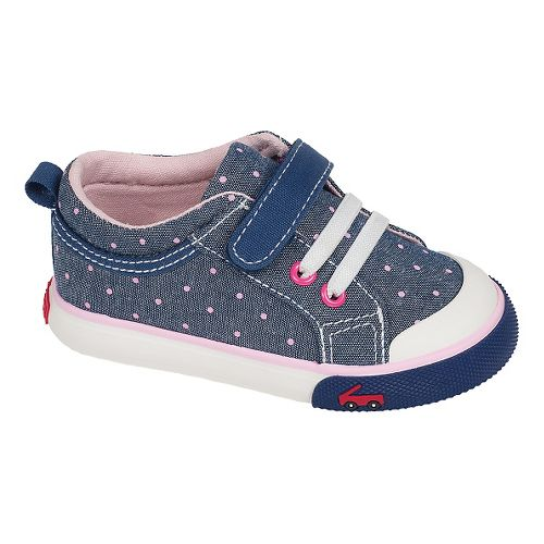 Kids See Kai Run Kristin Casual Shoe - Blue/Dots 7.5C