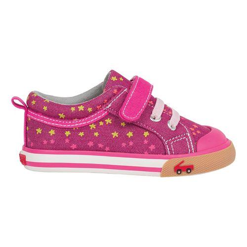 See Kai Run Girls Kristin Casual Shoe - Berry/Hot Pink 5C