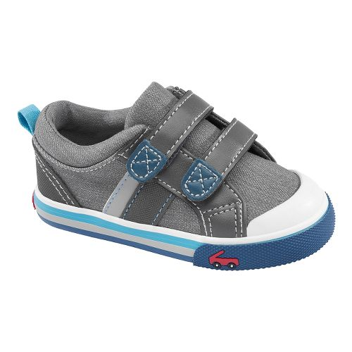 Kids See Kai Run Russell Casual Shoe - Grey 8