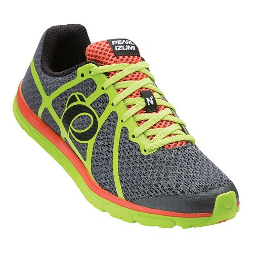 Mens Pearl Izumi EM Road N 1 V2 Running Shoe - Shadow Grey/Lime 7.5