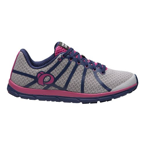 Womens Pearl Izumi EM Road N 1 V2 Running Shoe - Silver/Deep Indigo 11