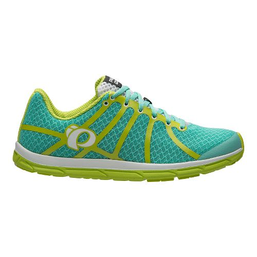 Womens Pearl Izumi EM Road N 1 V2 Running Shoe - Aqua Mint/Lime 10.5