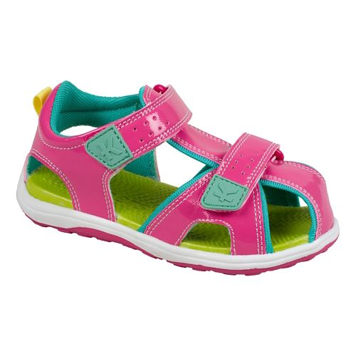 Kids See Kai Run Discovery Sandals Shoe - Hot Pink 1.5