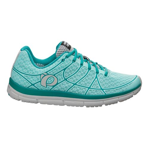 Womens Pearl Izumi EM Road N 2 v2 Running Shoe - Aruba Blue/Peacock 7