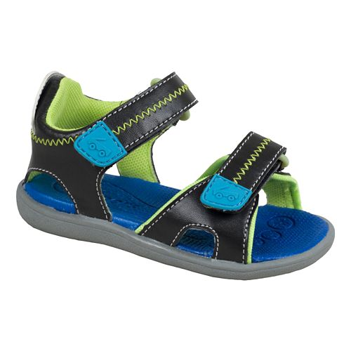 Kids See Kai Run Bryant Sandals Shoe - Black 6