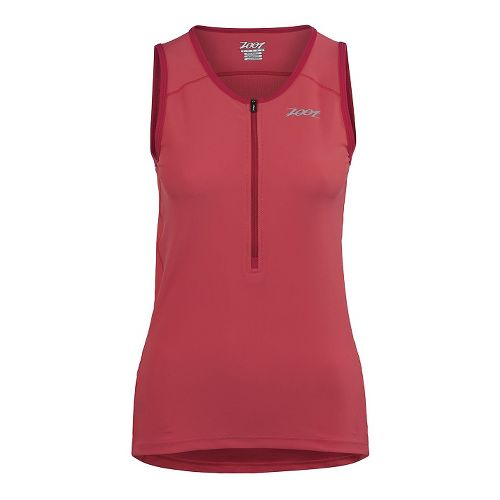 Womens Zoot Active Tri Mesh Tank Sleeveless Technical Tops - Pink Grapefruit M