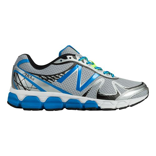 Mens New Balance 780v5 Running Shoe - Silver/Blue 7.5