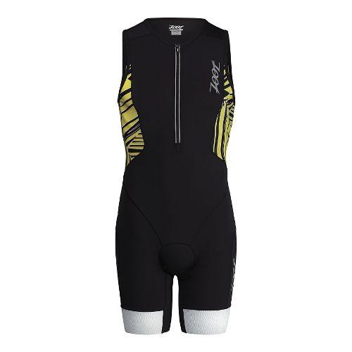 Mens Zoot Ultra Tri Racesuit Triathlete UniSuits - Black/Yellow XS