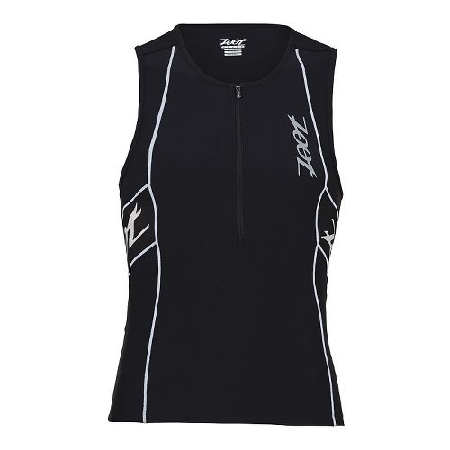 Mens Zoot Performance Tri Tank Sleeveless Technical Tops - Black/Black XL