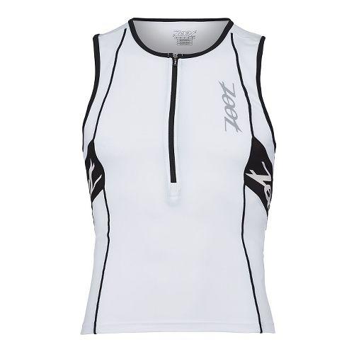 Mens Zoot Performance Tri Tank Sleeveless Technical Tops - White/Black XL