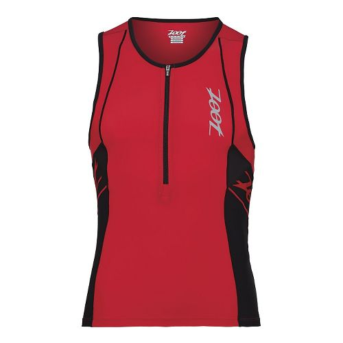 Mens Zoot Performance Tri Tank Sleeveless Technical Tops - Zoot Red/Black XL