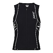 Mens Zoot Performance Tri Full Zip Tank Sleeveless Technical Tops