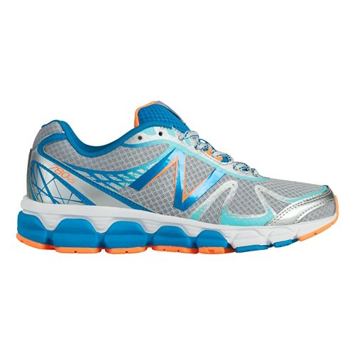 Womens New Balance 780v5 Running Shoe - Silver/Blue 6.5