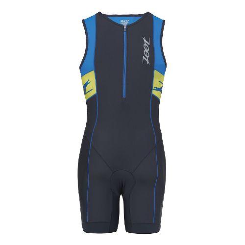 Mens Zoot Performance Tri Racesuit Triathlete UniSuits - Pewter/Zoot Blue L