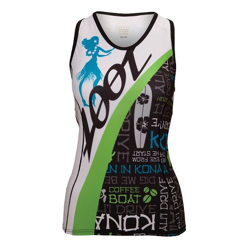 Womens Zoot Ultra Tri Ali'I Racerback Tank Technical Tops - White/Splash XS