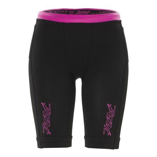 Womens Zoot Ultra 2.0 CRx Unlined Shorts - Black/Pink Glow OS