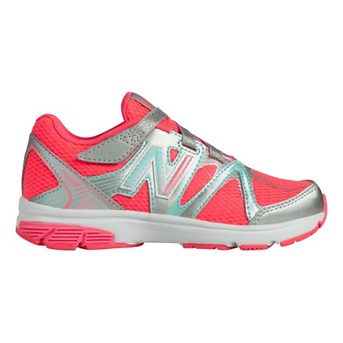 Kids New Balance 697 Y Running Shoe - Silver/Pink 12.5