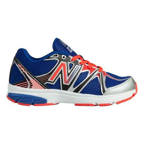 Kids New Balance 697 Y Running Shoe - Blue/Orange 10.5