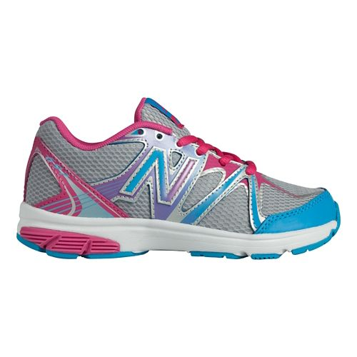 Kids New Balance 697 Y Running Shoe - Silver/Blue 3.5