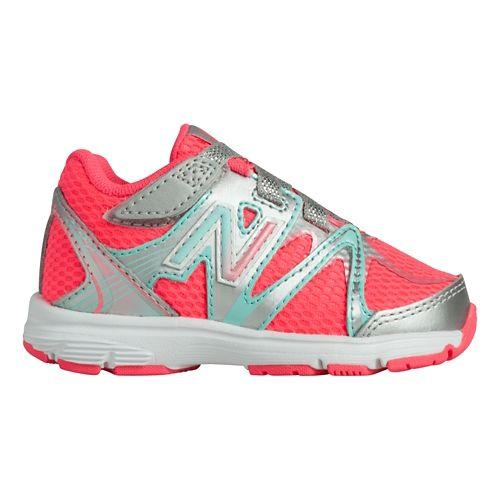 Kids New Balance 697 I Running Shoe - Silver/Pink 4
