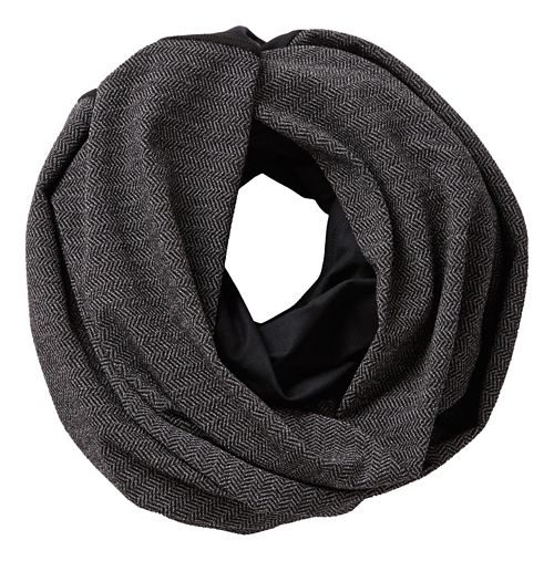 Womens Road Runner Sports Point Taken Infinity Scarf Headwear - Black/Herringbone